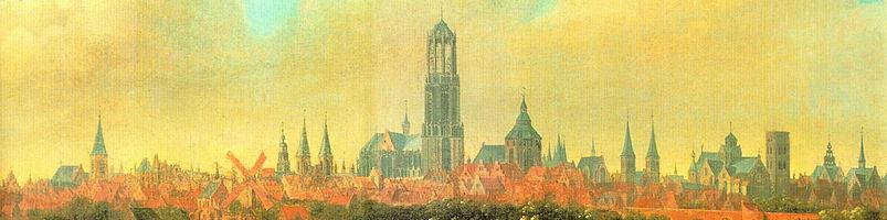 Gezicht op Utrecht door Joost Cornelisz. Droochsloot, ca. 1630 (Centraal Museum, Utrecht)