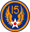 15th USAAF patch