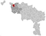 Pecq Hainaut Belgium Map.png