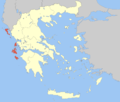 Localización de la periferia de Islas Jónicas