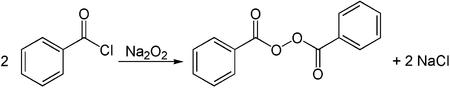 Synthese von Dibenzoylperoxid