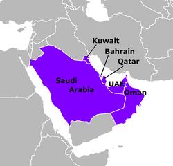 Map indicating CCASG members