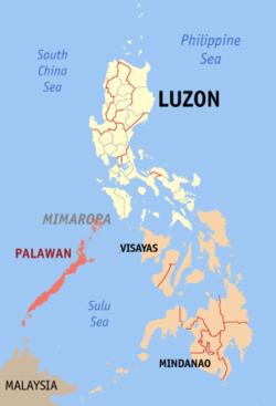 Ubicación de Palawan