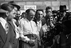 Philippe Étancelin au Grande Prix de la Marne 1933
