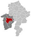 Situation de la ville dans l'arrondissement de Philippeville et la province de Namur