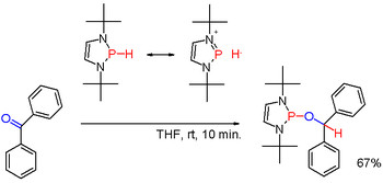 Scheme 3. diazaphospholene phosphine hydride