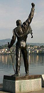 Estatua de Mercury localizada en Montreux, Suiza.