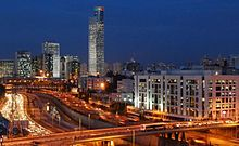PikiWiki Israel 895 Night Falls on Ramat Gan הבורסה ברמת גן לעת ערב.jpg