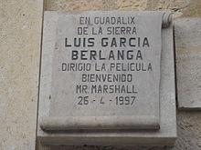 Placa Bienvenido Mr Marshall Guadalix de la Sierra.JPG