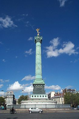 La Colonne de Juillet Place de la Bastille