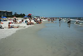 Plage de l'île de Hilton-Head à la fin du mois de juillet2009