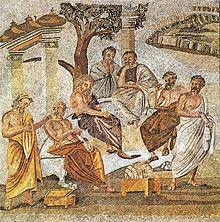 Platon enseignant à ses disciples