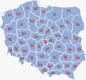 Poland's voivodeships after 1975.