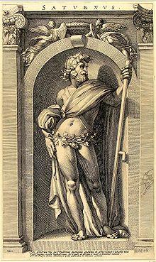Saturne par Polidoro da Caravaggio au XVIesiècle