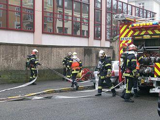 Intervention des sapeurs pompiers