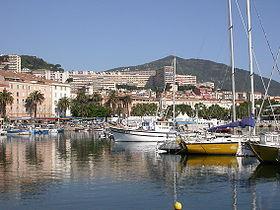 Le port d'Ajaccio.