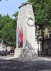A cuboid granite cenotaph.