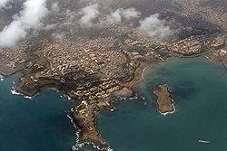 Vue aérienne de Praia