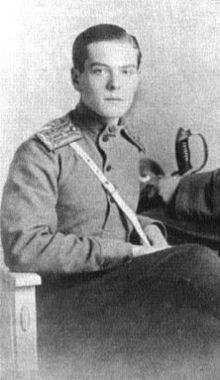 Le prince Vladimir Pavlovich Paley, frère de la princesse Natalia Pavlovna Paley en 1916.