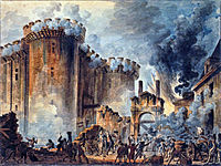 Prise de la Bastille le 14 juillet 1789 par Hoüel