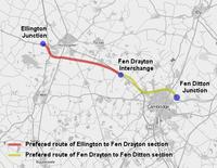 Proposed A14 Ellington to Fen Ditton development.png