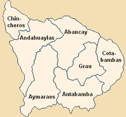 Provinces of the Apurímac region in Peru.png