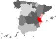 Localisation de la province de Valence en Espagne et dans la Communauté valencienne