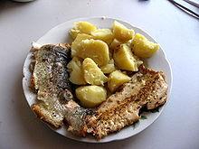 Photo of fried steelhead filet on a plate