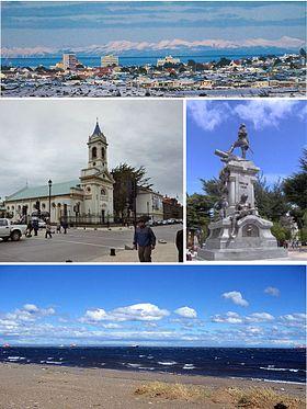 Différentes vues de Punta Arenas