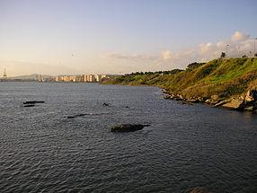 Algésiras depuis la Punta de los Paredones
