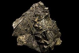 Pyrite Octaèdre - Mines de Huaron, Pérou (8×8 cm)