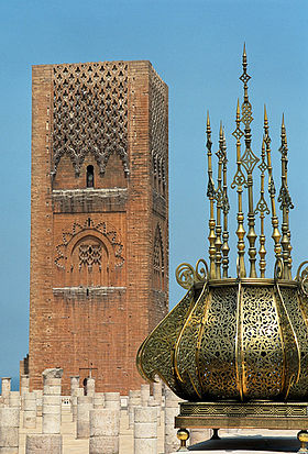 La tour Hassan (montage)