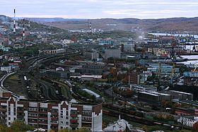 Vue de Mourmansk.