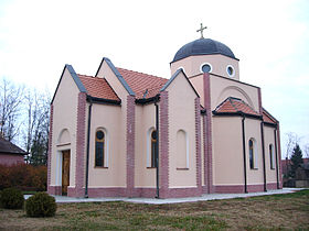 La nouvelle église orthodoxe serbe de Rastina