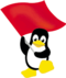 The logo of Red Flag Linux