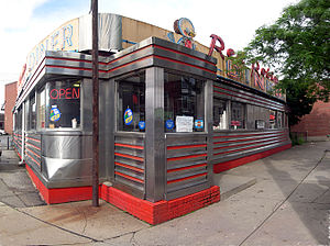 Red Robin Diner in downtown Johnson City, NY