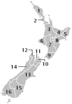 Административное деление Новой Зеландии