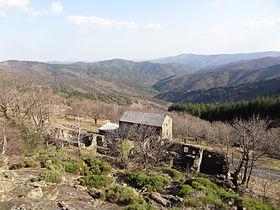Saint-Andéol-de-Clerguemort vue depuis le relais de l'Espinas