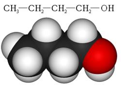 Structure chimique du butan-1-ol