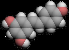 Structure du trans-resvératrol