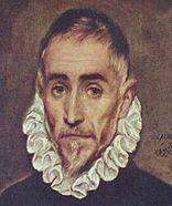 Detalle del Retrato de un caballero anciano(1587-1600).