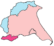 Outline map of the old and new East Riding of Yorkshire boundaries