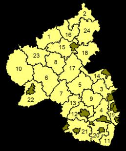 Districten van Rijnland-Palts