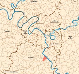 Ris-Orangis map.png