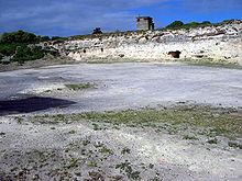 Photographie de l'endroit où travaillaient les prisonniers de Robben Island
