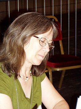 Margaret Astrid Lindholm Ogden at the 63rd World Science Fiction Convention in Glasgow, Scotland, United Kingdom, August 2005