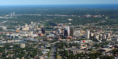 Vista aérea de Rochester.