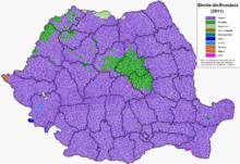 Main ethnicities in the localities (2002)