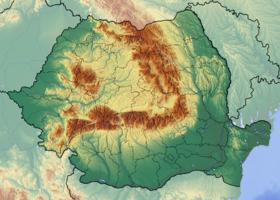 Voir la carte Roumanie topographique