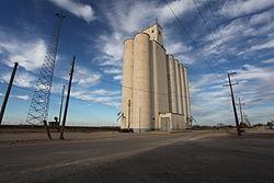 Concrete grain elevator, Roscoe, Texas